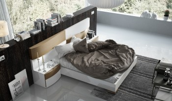 Lacquered Stylish Quality Modern Platform Bed