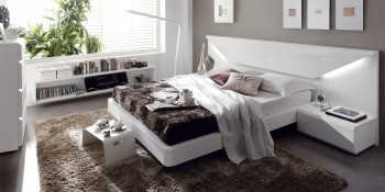Overnice Wood Platform and Headboard Bed