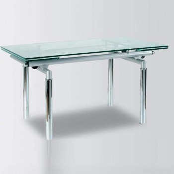 Metal and Glass Contemporary Dining Table