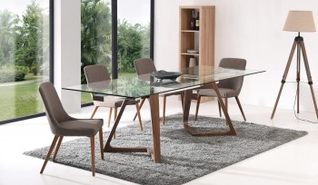 Contemporary Style Wooden Complete Dining Room Sets