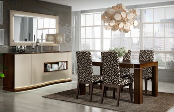 Extendable Wooden Made in Spain Modern Dining Room