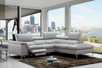 Refined 100% Italian Leather Sectional