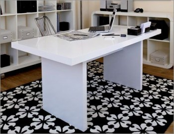 Multi Contemporary Style 63 Dining Table in Pure White