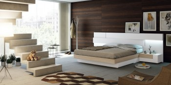 Lacquered Made in Spain Quality High End Platform Bed