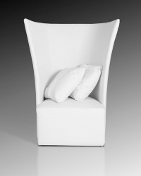 Modern High Back White Leather Leisure Chair