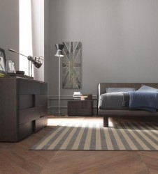 Made in Italy Wood Luxury Bedroom Set with Optional Storage System