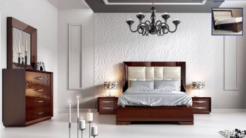 Made in Spain Leather Modern Contemporary Master Beds