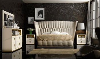 Exclusive Leather Platform Bedroom Furniture Sets