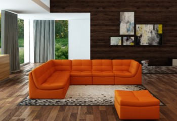 Advanced Adjustable Leather Sectional