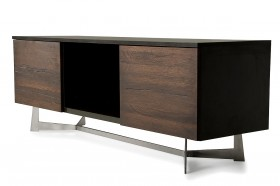 Beautiful Dark Oil Stained Solid Aged Oak TV Stand