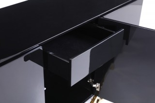 Luxury Black Buffet with Golden Accents