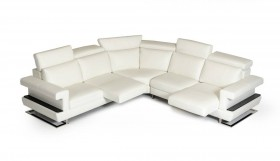 Three Pieced Contemporary Leather Sectional Sofa