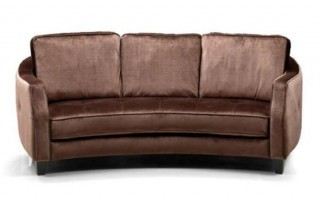 Brown Fabric Sofa Set with Ottoman 1079