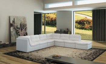 Advanced Adjustable Designer All Leather Sectional