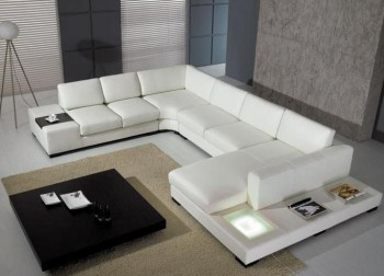 High End Living Room Bonded Sectional