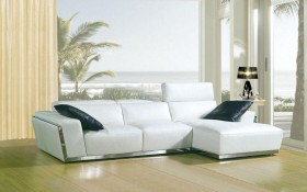 Luxurious Modern Leather L-shape Sectional