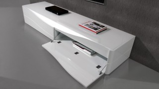 Popular Two Door Luxury TV Stand with LED Light from Portugal
