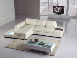 High End Leather Corner Sectional Sofa