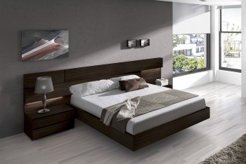 Made in Spain Wood High End Platform Bed with Extra Storage