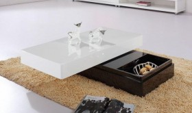 Contemporary Two-Tone Coffee Table with Storage