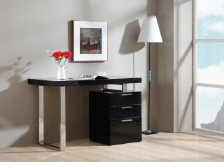 Contemporary Three Drawer Office Desk with Multiple Finishes