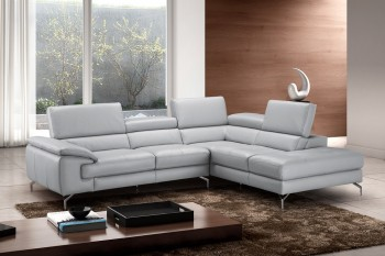 Advanced Adjustable Covered in All Leather Sectional