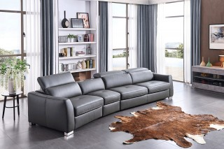 Leather Sectional with Pull Out Sleeper Bed