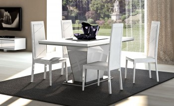 Italian Made Extendable Table in High Gloss White or Walnut