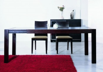 Extendable Contemporary Dining Table in Wenge Color