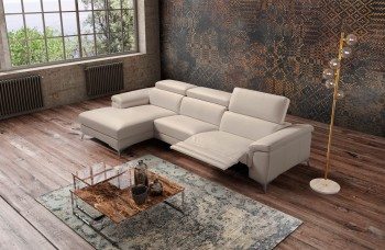 Stylish All Real Leather Sectional