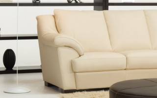 Elegant Genuine Leather Sectional