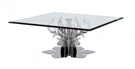 Contemporary Glass Square Coffee Table Hamlet