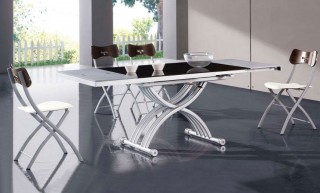 Contemporary Foldable Dining Room Table