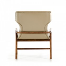 Lounge Furniture Accent Chair in Taupe Leather