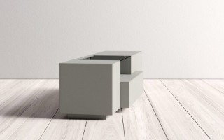 Grey Finish Contemporary Functional Entertainment TV Stand