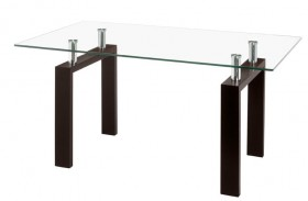 Arcos Table with Clear Tempered Glass Top