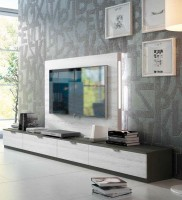 Modern Wall Unit with Light and Entertainment Center
