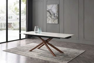 Rectangular Extendible Dining Table for Large Family
