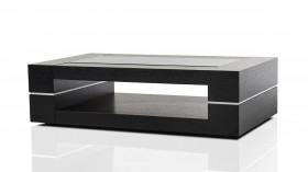 Modern Black Oak Rectangular Coffee Table