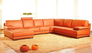 Adjustable Advanced Half Sectional Upholstered in Real Leather