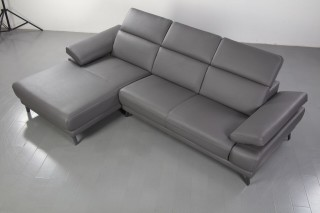 Luxury Sectional Upholstered in Real Leather