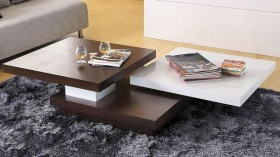 Stylish Two Toned Square Coffee Table
