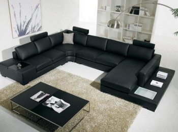 Adjustable Advanced Covered in Bonded Leather Sectional