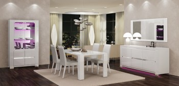 Exclusive Rectangular Made in Italy Dinner Table and Chairs