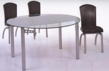 12 mm Tempered Round Glass Expandable Table