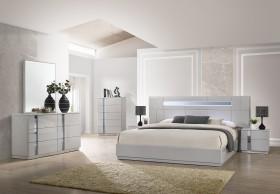Elegant Wood Elite Modern Bedroom Sets With Light System Virginia Beach Virginia J M Furniture Palermo Grey