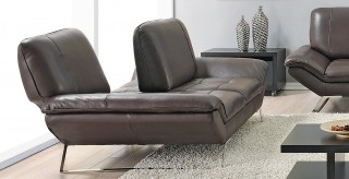 Brown Classic Italian Leather Living Room Set