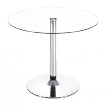 Galaxy Table with Chrome Steel Column