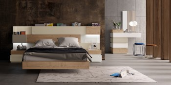 Elegant Wood High End Platform Bed