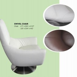 Navis Contemporary Premium Leather Club Chair